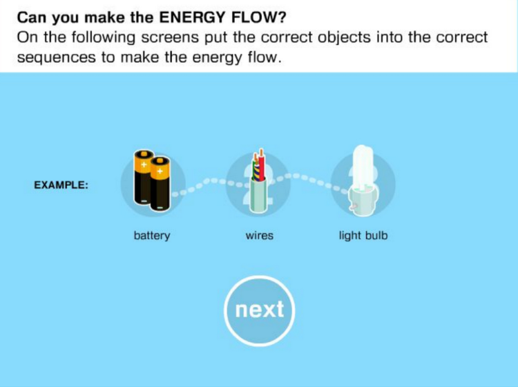Energy Flows screenshot showing how energy flows
