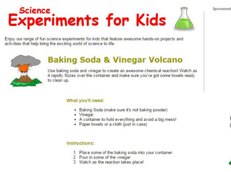 Experiments for Kids screenshot