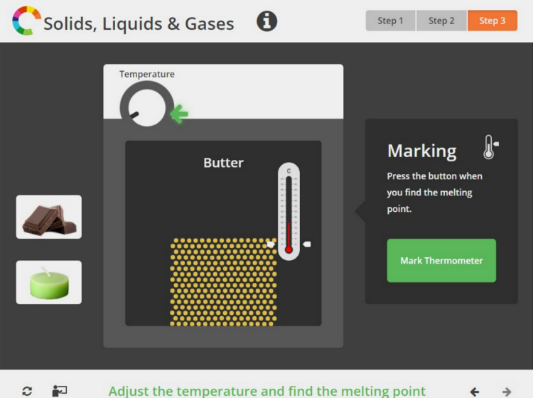 Solids liquids and gases screenshot