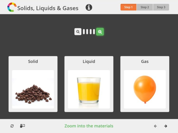 solid liquid gas intro screenshot