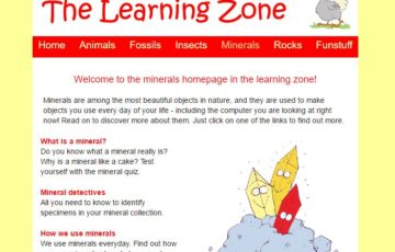 the learning zone screen shot