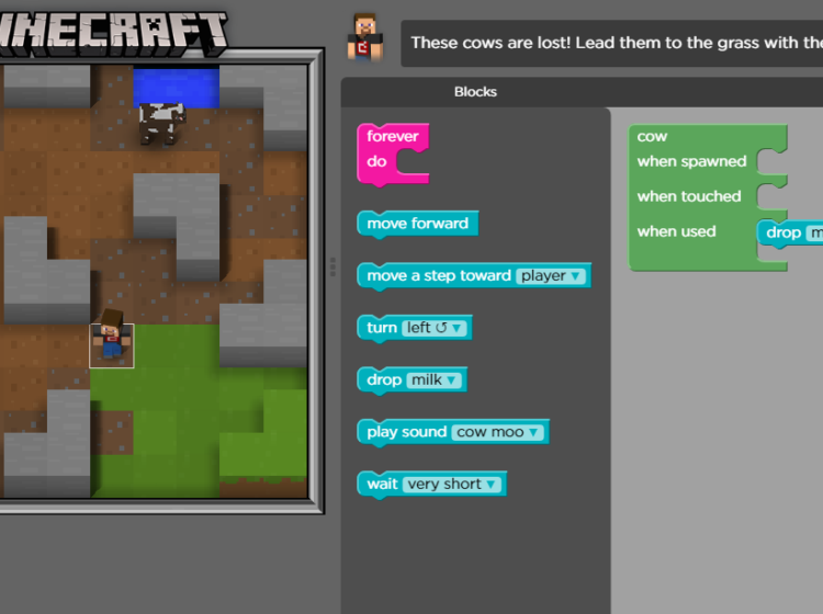 Minecraft Hour of Code Tutorials Screenshot
