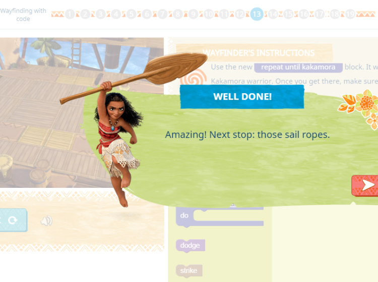 Hour of Code – Moana Screenshot