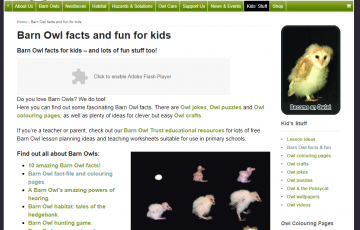 barn owl trust screenshot