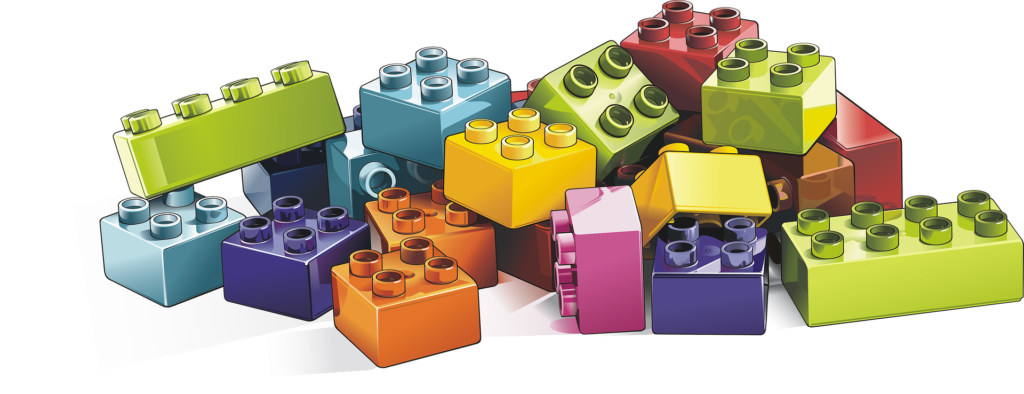 Lego block (including pink ones)