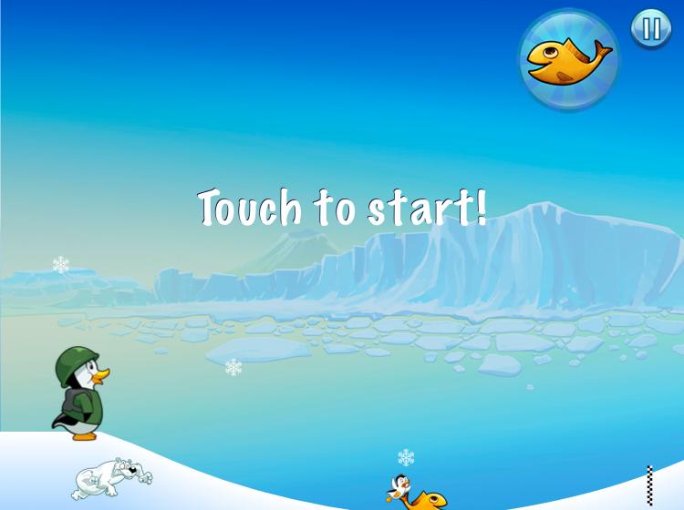Racing penguins game screenshot