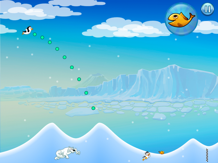Racing penguins game screenshot