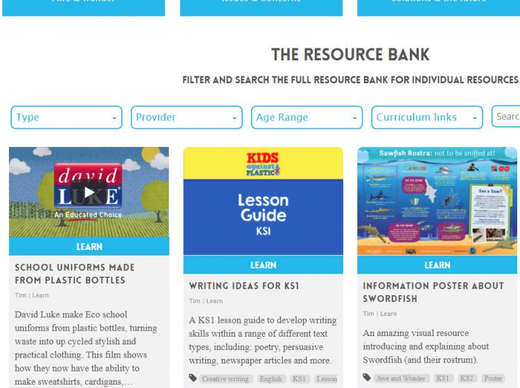 kids against plastic screenshot resource bank